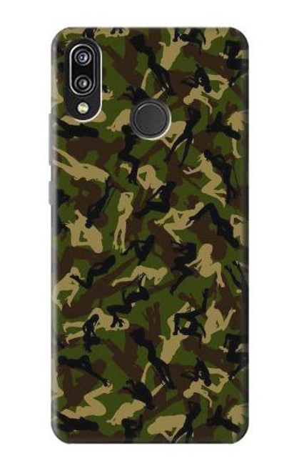 S3356 Sexy Girls Camo Camouflage Case For Huawei P20 Lite