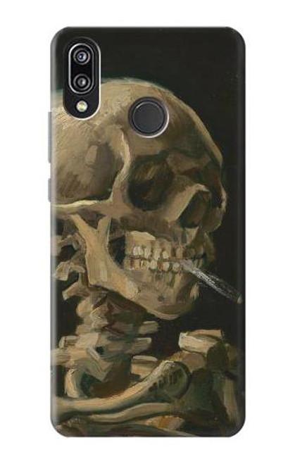 S3358 Vincent Van Gogh Skeleton Cigarette Case For Huawei P20 Lite