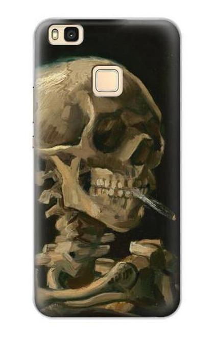 S3358 Vincent Van Gogh Skeleton Cigarette Case For Huawei P9 Lite