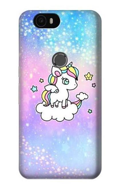 S3256 Cute Unicorn Cartoon Case For Huawei Nexus 6P