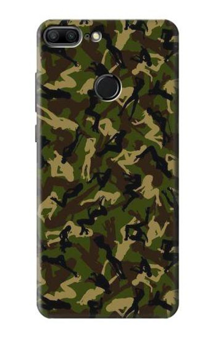 S3356 Sexy Girls Camo Camouflage Case For Huawei Honor 9 Lite