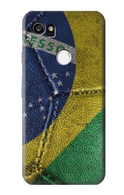 S3297 Brazil Flag Vintage Football Graphic Case For Google Pixel 2 XL
