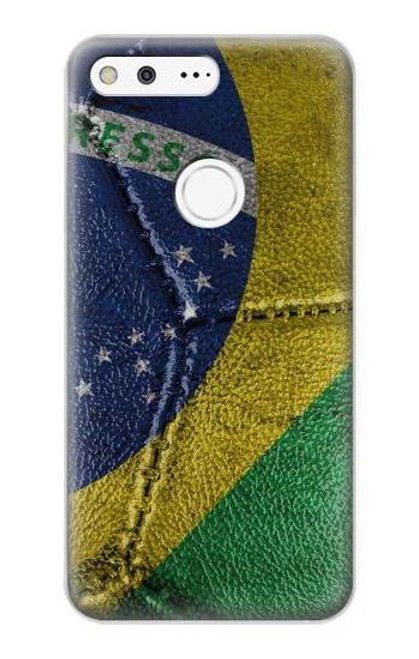 S3297 Brazil Flag Vintage Football Graphic Case For Google Pixel XL