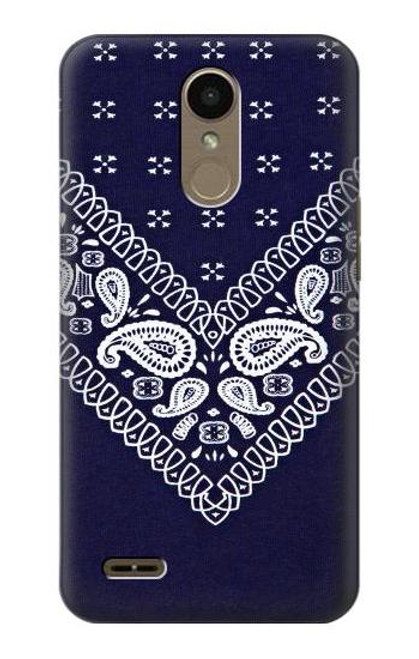 S3357 Navy Blue Bandana Pattern Case For LG K10 (2018), LG K30