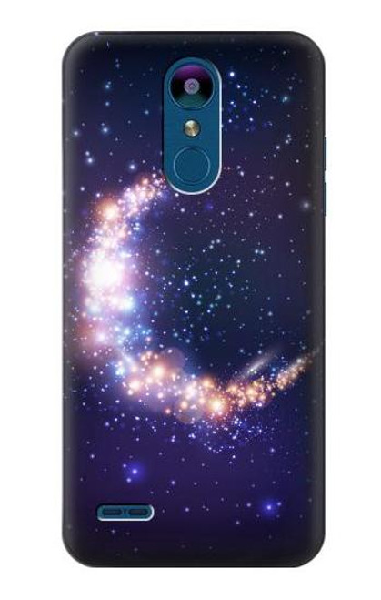 S3324 Crescent Moon Galaxy Case For LG K8 (2018), LG Aristo 2, LG Tribute Dynasty, LG Zone 4, LG Fortune 2, LG K8+