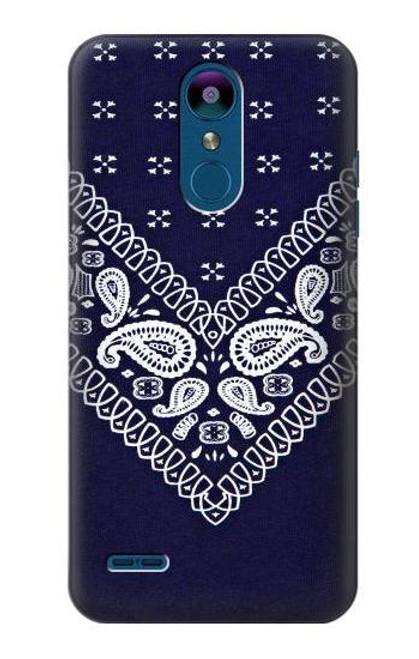 S3357 Navy Blue Bandana Pattern Case For LG K8 (2018)