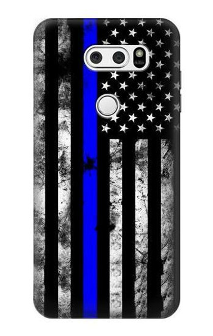 S3244 Thin Blue Line USA Case For LG V30, LG V30 Plus, LG V30S ThinQ, LG V35, LG V35 ThinQ