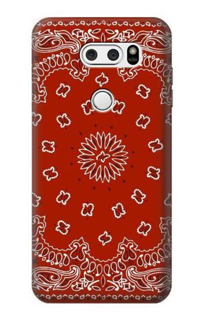 S3355 Bandana Red Pattern Case For LG V30, LG V30 Plus, LG V30S ThinQ, LG V35, LG V35 ThinQ