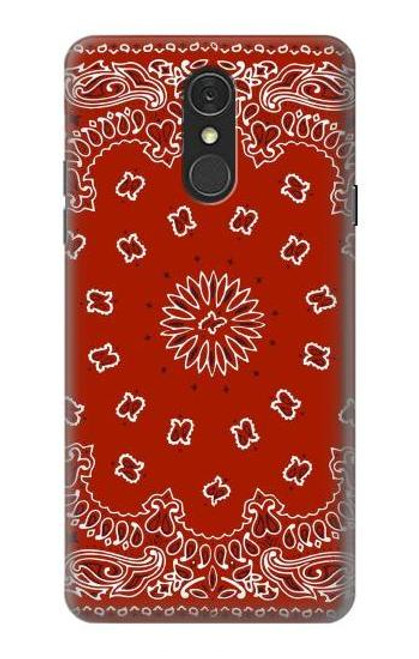 S3355 Bandana Red Pattern Case For LG Q7