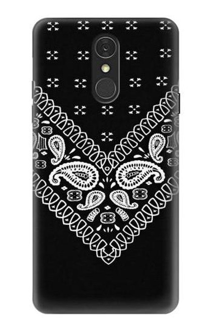 S3363 Bandana Black Pattern Case For LG Q7