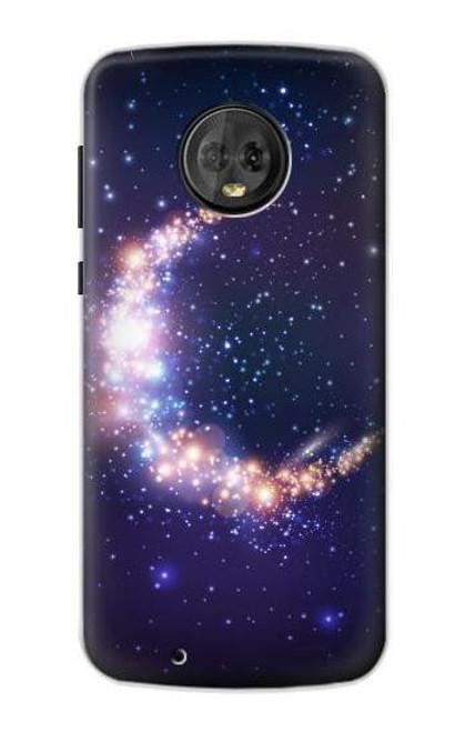 S3324 Crescent Moon Galaxy Case For Motorola Moto G6