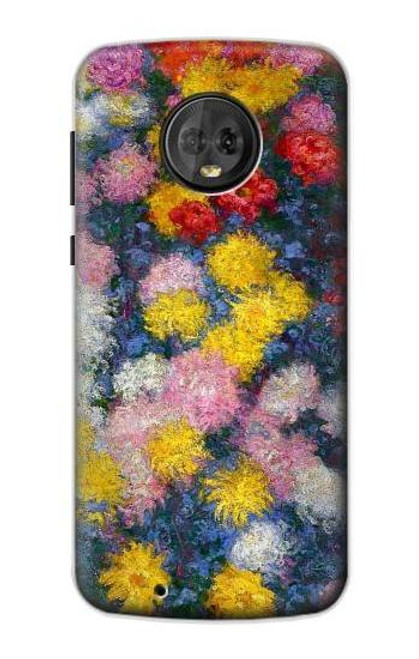 S3342 Claude Monet Chrysanthemums Case For Motorola Moto G6