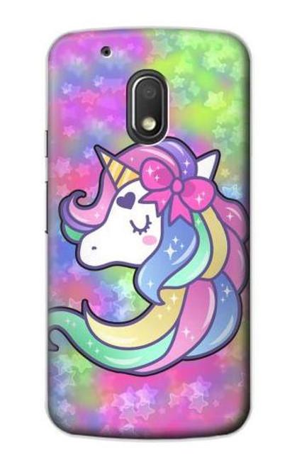 S3264 Pastel Unicorn Case For Motorola Moto G4 Play
