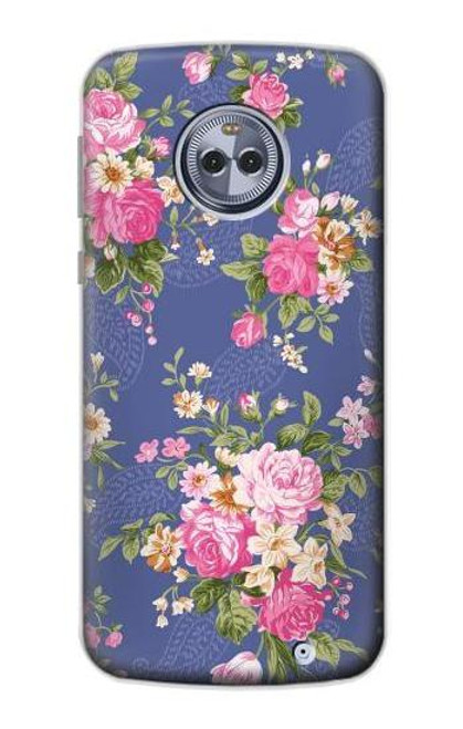 S3265 Vintage Flower Pattern Case For Motorola Moto X4