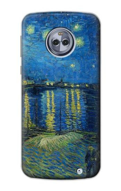 S3336 Van Gogh Starry Night Over the Rhone Case For Motorola Moto X4