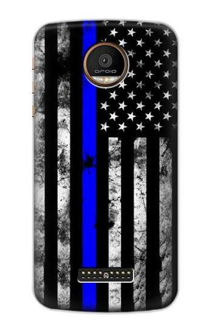 S3244 Thin Blue Line USA Case For Motorola Moto Z Force, Z Play