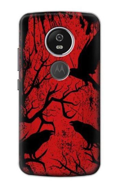 S3325 Crow Black Blood Tree Case For Motorola Moto E5 Plus