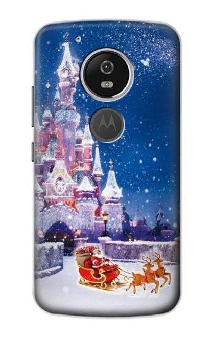 S3282 Santa Xmas Castle Case For Motorola Moto G6 Play, Moto G6 Forge, Moto E5