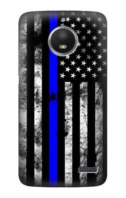 S3244 Thin Blue Line USA Case For Motorola Moto E4