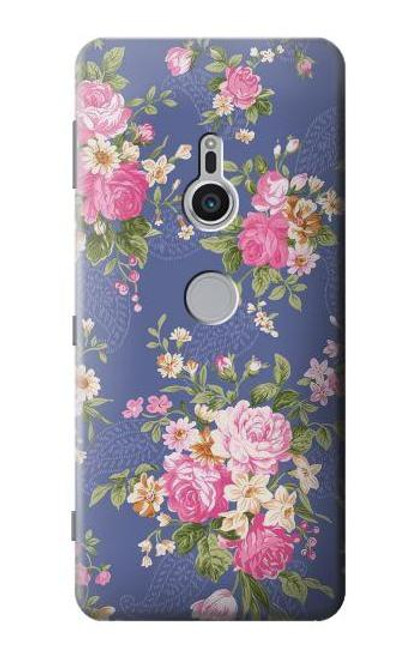 S3265 Vintage Flower Pattern Case For Sony Xperia XZ2
