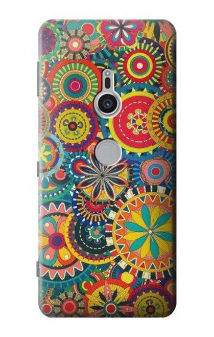 S3272 Colorful Pattern Case For Sony Xperia XZ2