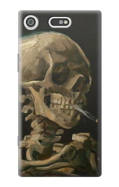 S3358 Vincent Van Gogh Skeleton Cigarette Case For Sony Xperia XZ1