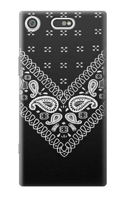 S3363 Bandana Black Pattern Case For Sony Xperia XZ1