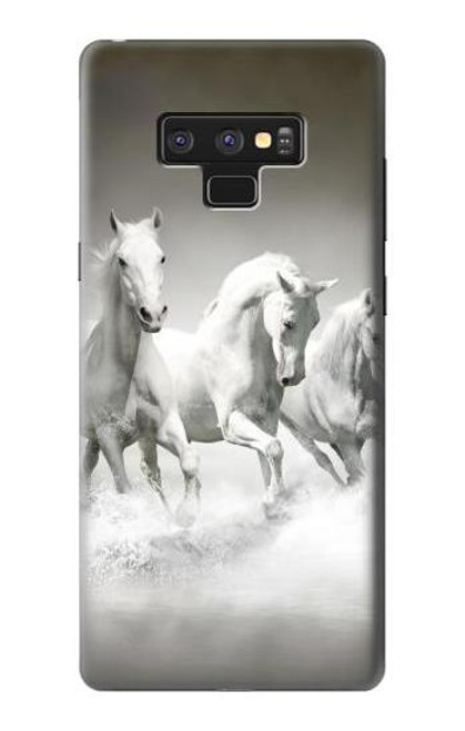 S0933 White Horses Case For Note 9 Samsung Galaxy Note9