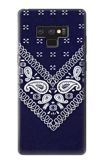 S3357 Navy Blue Bandana Pattern Case For Note 9 Samsung Galaxy Note9