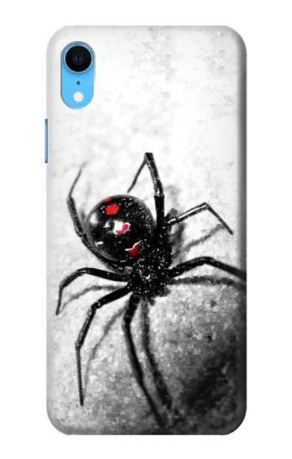 S2386 Black Widow Spider Case For iPhone XR