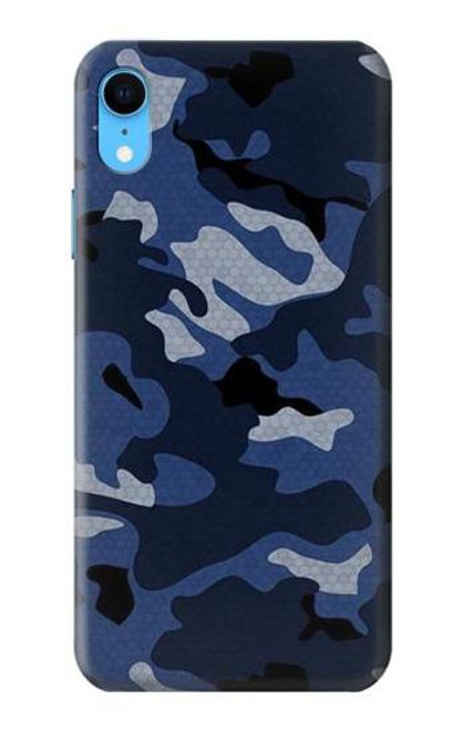 S2959 Navy Blue Camo Camouflage Case For iPhone XR