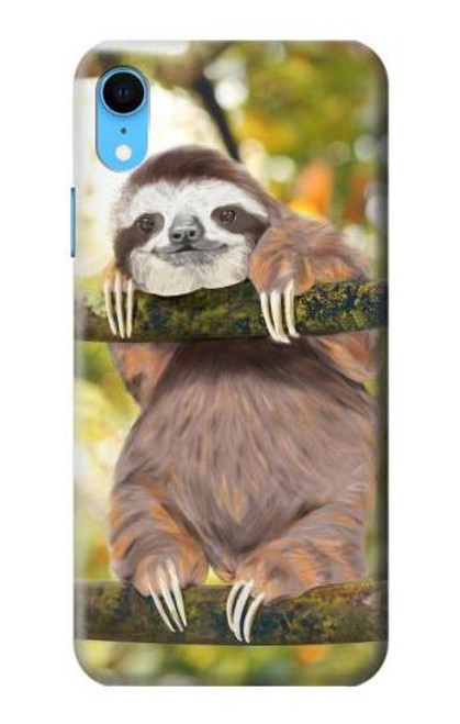 S3138 Cute Baby Sloth Paint Case For iPhone XR