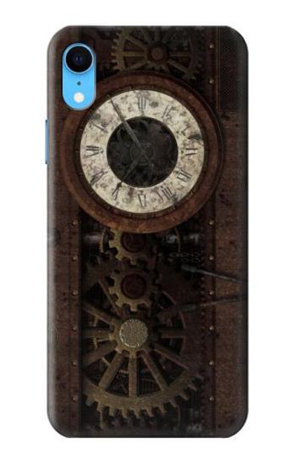 S3221 Steampunk Clock Gears Case For iPhone XR