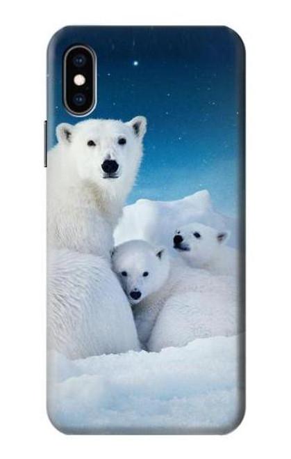 S0285 Polar Bear Family Arctic Case For iPhone X, iPhone XS