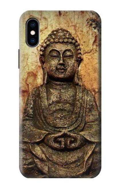 S0344 Buddha Rock Carving Case For iPhone X, iPhone XS