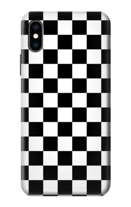 S1611 Black and White Check Chess Board Case For iPhone X, iPhone XS