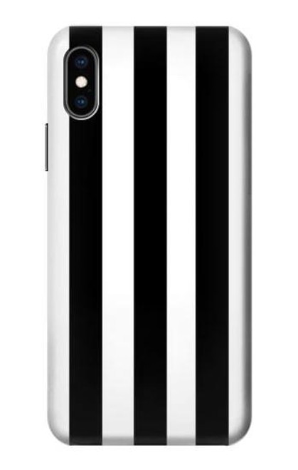 S2297 Black and White Vertical Stripes Case For iPhone X, iPhone XS