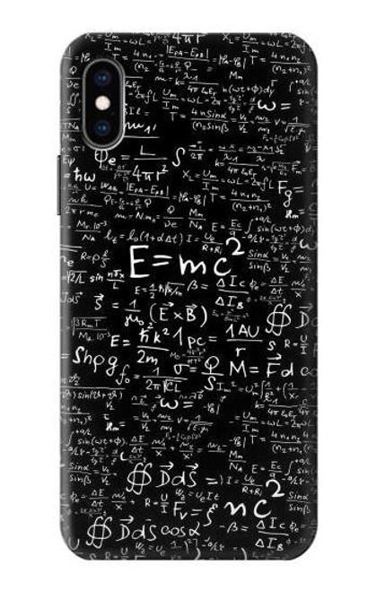 S2574 Mathematics Physics Blackboard Equation Case For iPhone X, iPhone XS