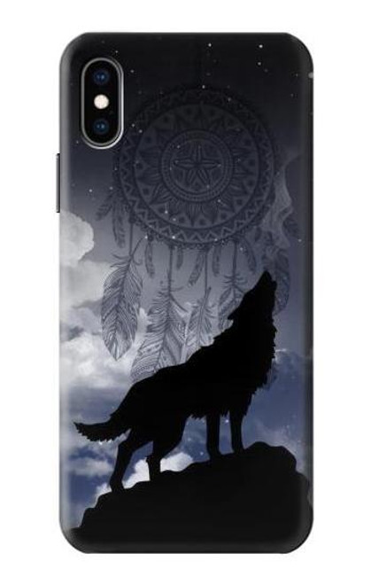 S3011 Dream Catcher Wolf Howling Case For iPhone X, iPhone XS