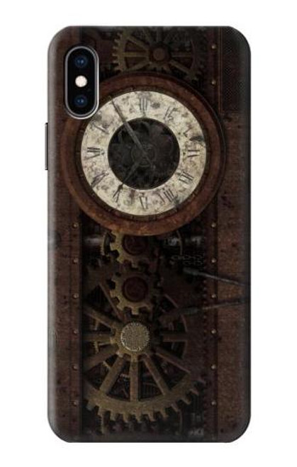 S3221 Steampunk Clock Gears Case For iPhone X, iPhone XS