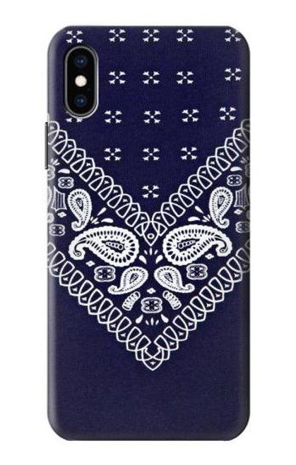 S3357 Navy Blue Bandana Pattern Case For iPhone X, iPhone XS
