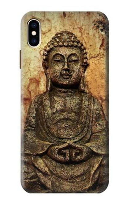 S0344 Buddha Rock Carving Case For iPhone XS Max