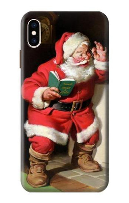 S1417 Santa Claus Merry Xmas Case For iPhone XS Max