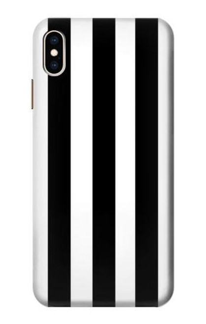 S2297 Black and White Vertical Stripes Case For iPhone XS Max