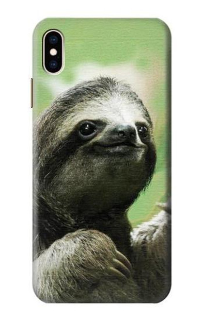 S2708 Smiling Sloth Case For iPhone XS Max