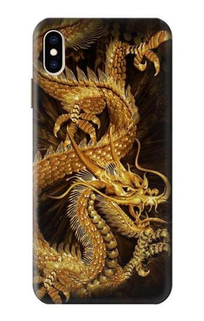 S2804 Chinese Gold Dragon Printed Case For iPhone XS Max