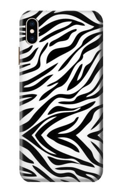 S3056 Zebra Skin Texture Graphic Printed Case For iPhone XS Max