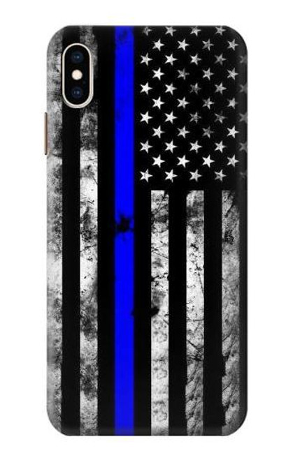 S3244 Thin Blue Line USA Case For iPhone XS Max