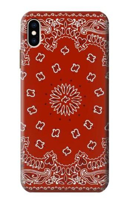 S3355 Bandana Red Pattern Case For iPhone XS Max