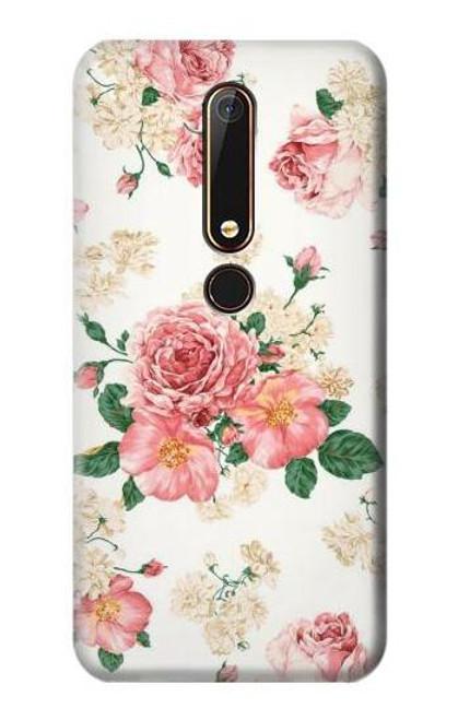 S1859 Rose Pattern Case For Nokia 6.1, Nokia 6 2018